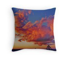 blazing sky Throw Pillow