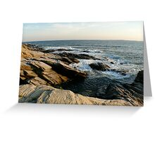 Beavertail Bluffs looking West Greeting Card