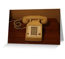 Vintage Retro Telephone Greeting Card