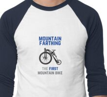 The First Mountain Bike: the mountain farthing Men's Baseball ¾ T-Shirt