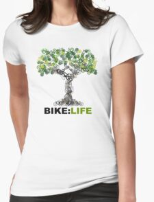 BIKE:LIFE tree Womens Fitted T-Shirt