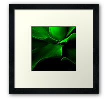 The Aloe wave Framed Print