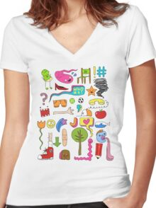 busy Women's Fitted V-Neck T-Shirt