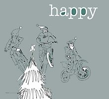 Happy - CHRISTMAS bikers by Stasherella
