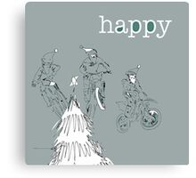 Happy - CHRISTMAS bikers Canvas Print
