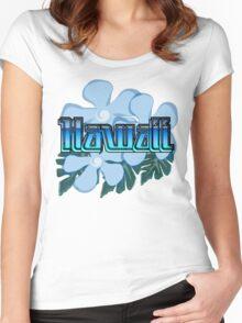 Hawaii Destination Shirt Women's Fitted Scoop T-Shirt