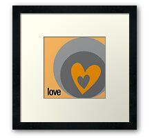 LOVE 5 Framed Print
