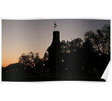 Sunrise at the Smithsonian Castle Poster
