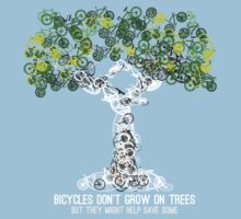 Bike Tree (white) Baby Tee