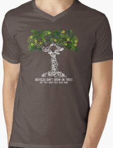 Bike Tree (white) Mens V-Neck T-Shirt