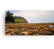Rocks To The Head - Avalon Beach , Sydney Australia Canvas Print