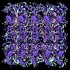 Floral Multi Layer Pattern - Purple Shades by Ra12