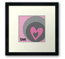 LOVE 11 Framed Print