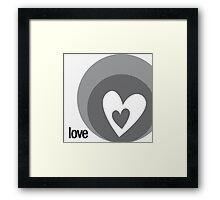 LOVE 12 Framed Print