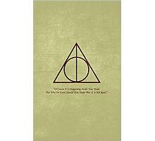 Dumbledore to Harry Photographic Print