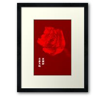 Fate (red) Framed Print
