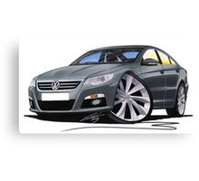 VW Passat CC Grey Canvas Print
