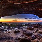 Caves Beach Cave - Swansea NSW by Ian English