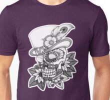 Tophat skull day of the dead Unisex T-Shirt