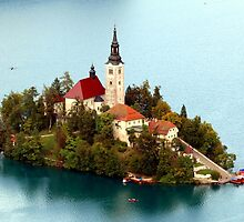 Island on Lake Bled by PeterCseke