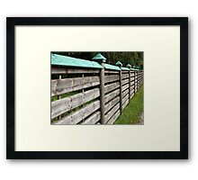 privacy wooden fence Framed Print