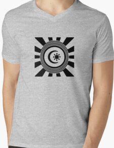 Mandala 34 Back In Black Mens V-Neck T-Shirt