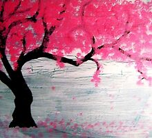 Cherry Blossom Tree by lunatiqueart