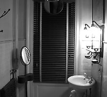 A Bathroom In The Guest House by David Marciniszyn