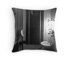 A Bathroom In The Guest House Throw Pillow