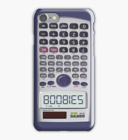 Spelling Boobies on My Calculator iPhone Case/Skin