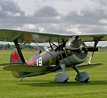 """Polikarpov I-15bis """"Chaika"""" 4439 white 19 by Colin Smedley"""