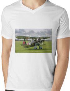 """Polikarpov I-15bis """"Chaika"""" 4439 white 19 Mens V-Neck T-Shirt"""