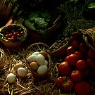 Still life with Fruit, Vegitables and Eggs by Anthony Vella