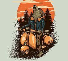 lonely rider by motymotymoty