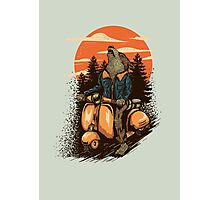 lonely rider Photographic Print