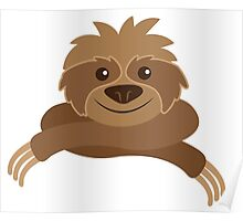 Cute sloth with crossed arms Poster