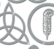 NEW DESIGN - Ancient Pagan Symbols (L) - Shine on You Crazy Diamond Sticker