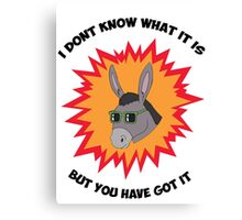 Awesome Donkey Canvas Print