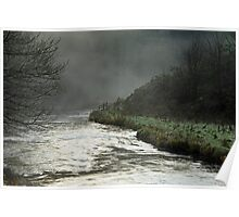 Misty River, Wolfscote Dale Poster