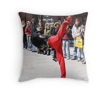 Street Break-Dancing Throw Pillow