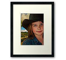 """When I Grow Up I Wanna Cowboy..."" Framed Print"