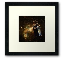 Whobox & the Inter-Galactic hitchhiker Framed Print