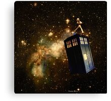 Whobox & the Inter-Galactic hitchhiker Canvas Print