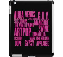 ARTPOP (Black) iPad Case/Skin
