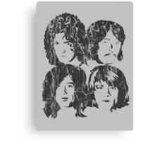 NEW DESIGN - The Four Faces - Dark Grey Extreme Distress Canvas Print