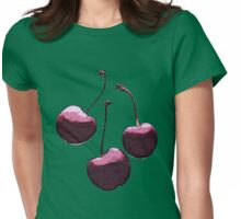 CHERRIES Womens Fitted T-Shirt