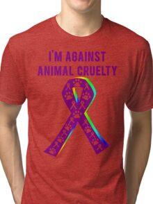Against Animal Cruelty T-Shirt Tri-blend T-Shirt
