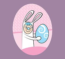 I'm here for Easter cute Bunny rabbit by jazzydevil
