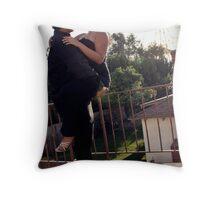 Balcony scene Throw Pillow