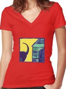 DOG GONE Women's Fitted V-Neck T-Shirt